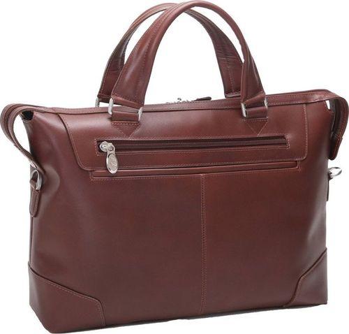 MCKLEIN Skórzana męska torba na laptopa MCKLEIN Arcadia 88764 brązowa