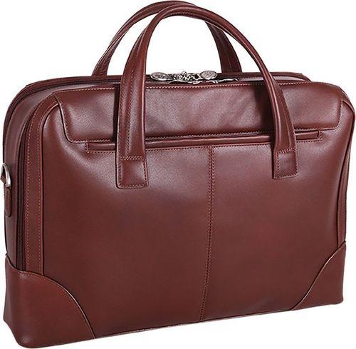 MCKLEIN Skórzana męska torba na laptopa MCKLEIN Harpswell 88565 brązowa