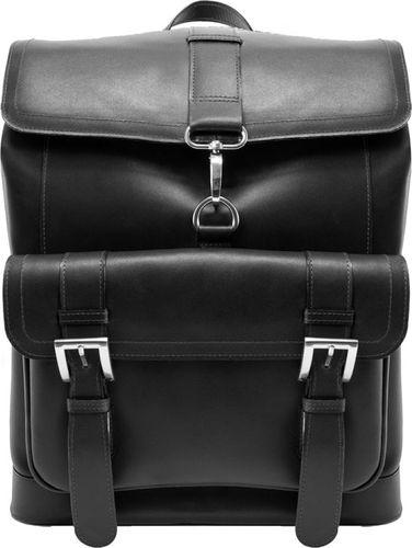 MCKLEIN Ekskluzywny skórzany plecak męski McKlein Hagen 88025 czarny