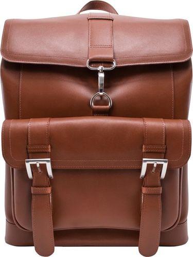 MCKLEIN Ekskluzywny skórzany plecak męski McKlein Hagen 88024 brązowy