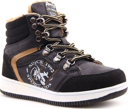 American Club Buty dziecięce AM468 czarne r. 28