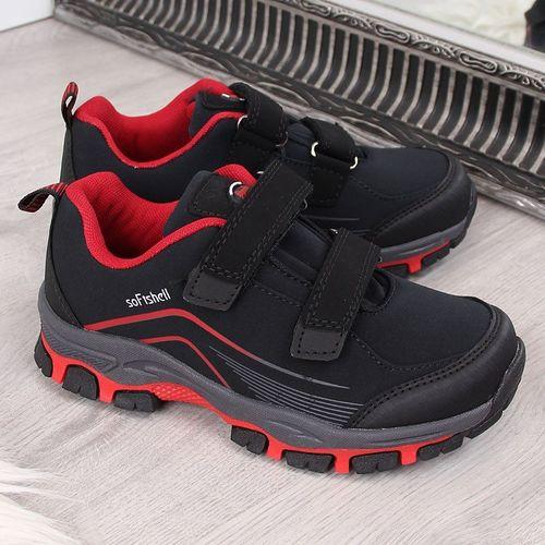 American Club Buty dziecięce AM530 czarno-czerwone r. 33