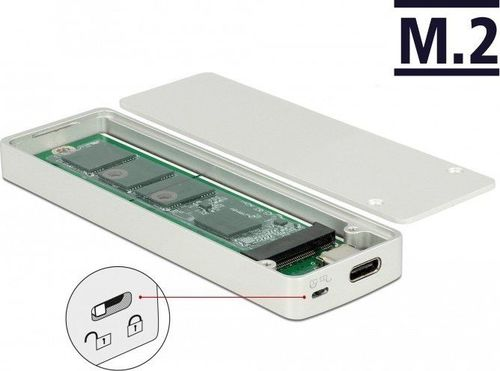 Etui Delock DeLOCK External housing M.2 Key B 42/60/80 mm SSD> USB Type-C 3.1 Gen 2 Socket, drive housing