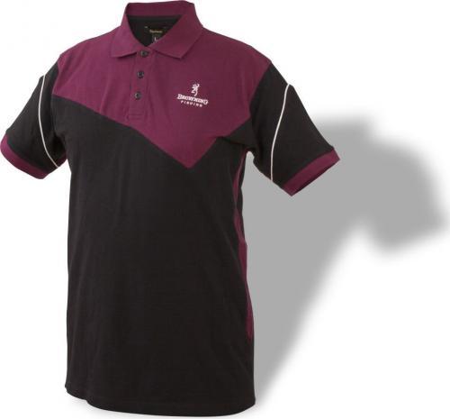 Browning Koszulka Polo 8493003 czarno-bordowa r. XL