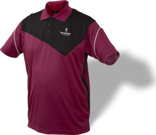 Browning Koszulka Dry Fit Polo 8492003 bordowo-czarna r. XL