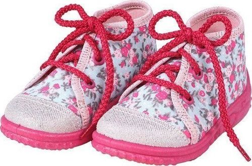 Lemigo Lemigo Gabi 006 Różowe Kwiatki obuwie tekstylne dla dzieci r. 18 uniwersalny