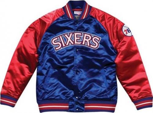 61a7fb41d Mitchell & Ness Kurtka męska NBA Philadelphia 76ers Tough Season Satin  granatowo-czerwona r.