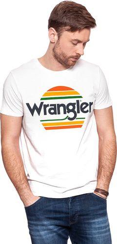 Wrangler Koszulka męska Festival Tee Vintge Offwhite r. S (W7B44DE1Y)