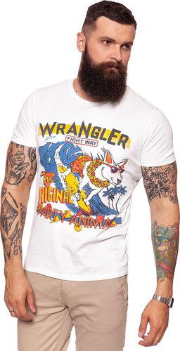 Wrangler Koszulka męska Wave Tee Offwhite r. XL (W7B49FK02)