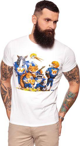 Wrangler Koszulka męska Mascotte Tee Offwhite r. S (W7B35FK02)