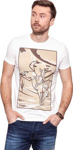 Wrangler Koszulka męska Western Graphic Tee Vintage White r. XL (W7B94FK1Y)