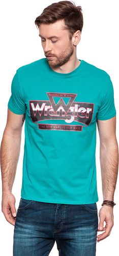 Wrangler Koszulka męska Tee Blue Bay r. L (W7B69FKVG)