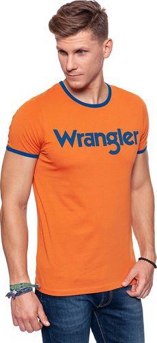 Wrangler Koszulka męska Kabel Tee Apricot Orange r. S (W7A76FQT2)