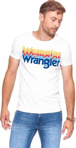 Wrangler Koszulka męska Rainbow Tee Offwhite r. XL (W7A80FQ02)
