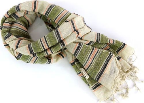 Lee LEE MULTI STRIPE SCARF ARMY GREEN LW3825CA ONE SIZE