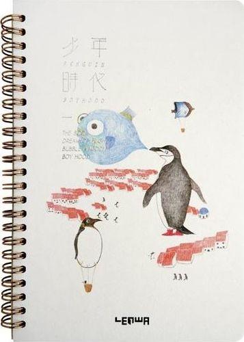 Incood Notes A5/68K Pingwiny i ryba