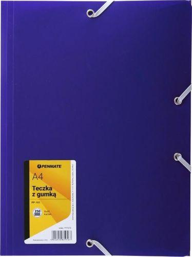Penmate Teczka z gumką A4 PP-101 fioletowa