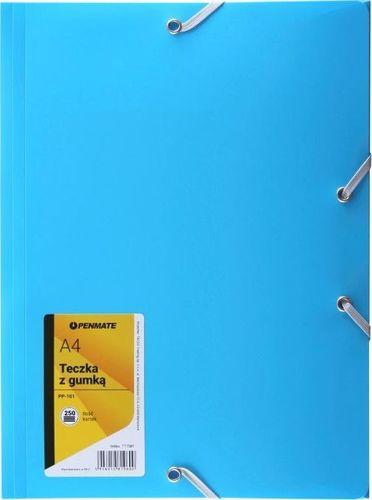 Penmate Teczka z gumką A4 PP-101 niebieska