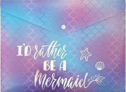 Incood Teczka A4 holograficzna I'd rather be a mermaid