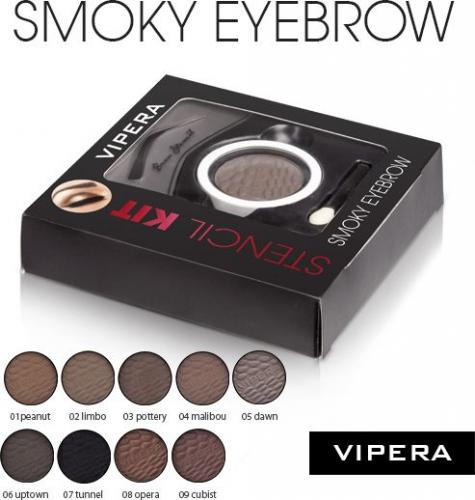 Vipera Zestaw Smoky Eyebrow Stencil Kit 01 Peanut 4.5g