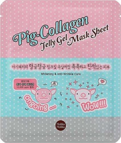 Holika Holika HOLIKA HOLIKA_Pig-Collagen Jelly Gel Mask Sheet rozjaśniająca przeciwzmarszczkowa hydrożelowa maseczka do twarzy 25ml