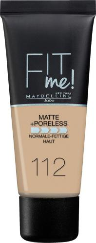 Maybelline  Podkład do twarzy Fit Me Matte&Poreless Foundation 112 Soft Beige 30ml