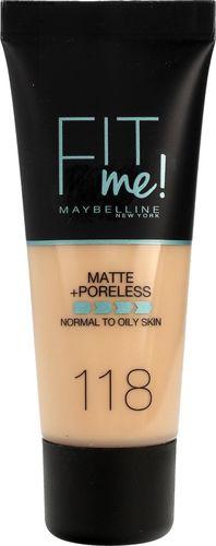Maybelline  Fit Me Matte+ Poreless matujący poklad do twarzy 118 30ml