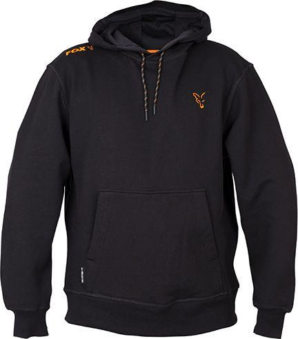 FOX Collection Orange & Black Hoodie - roz. L (CCL003)