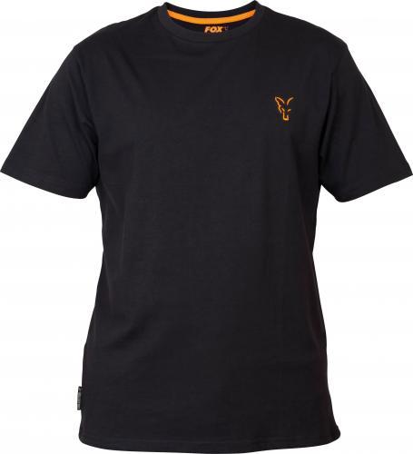 FOX Collection Orange & Black T-shirt - roz. S (CCL061)