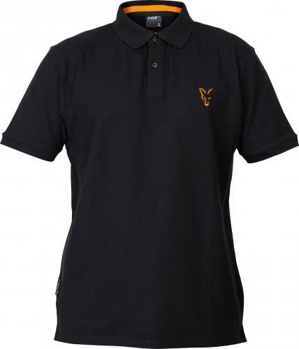 FOX Collection Orange & Black Polo Shirt - roz. S (CCL073)