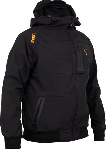 FOX Collection Orange & Black Shell Hoodie - roz. M (CCL086)