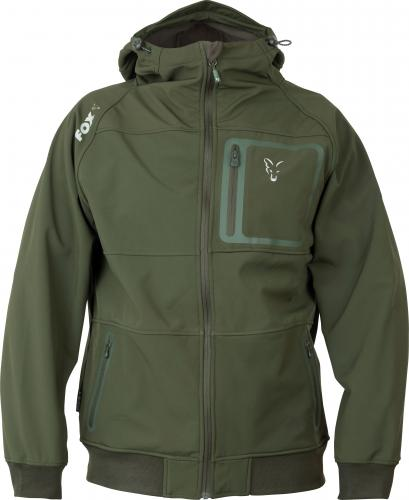 FOX Collection Green & Silver Shell Hoodie - roz. M (CCL092)