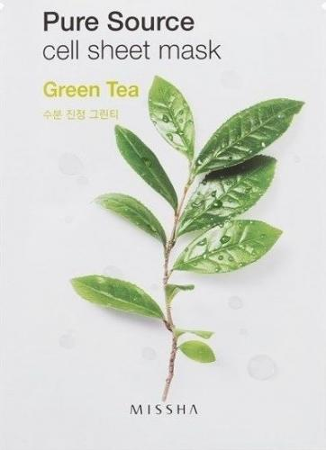 Missha Maseczka do twarzy Pure Source Cell Sheet Mask Green Tea 21g