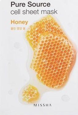 Missha Maseczka do twarzy Pure Source Cell Sheet Mask Honey 21g