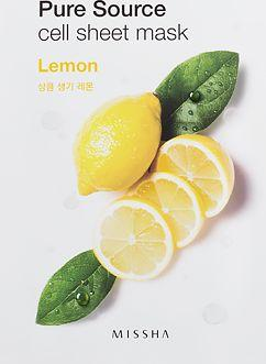 Missha Maseczka do twarzy Pure Source Cell Sheet Mask Lemon 21g