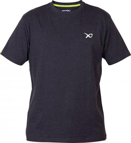 Fox Matrix Minimal Black Marl T-Shirt- roz. L (GPR193)