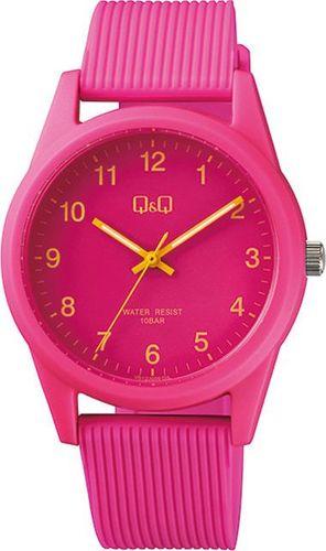 Zegarek Q&Q Zegarek QQ VS12-009 Różowy Młodzieżowy uniwersalny