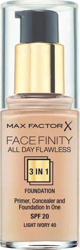 MAX FACTOR MAX FACTOR_Facefinity All Day Flawless 3in1 Foundation SPF20 podkład do twarzy 40 Light Ivory 30ml