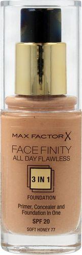 MAX FACTOR MAX FACTOR_Facefinity All Day Flawless 3in1 Foundation SPF20 podkład do twarzy 77 Soft Honey 30ml