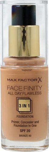 MAX FACTOR MAX FACTOR_Facefinity All Day Flawless 3in1 Foundation SPF20 podkład do twarzy 80 Bronze 30ml