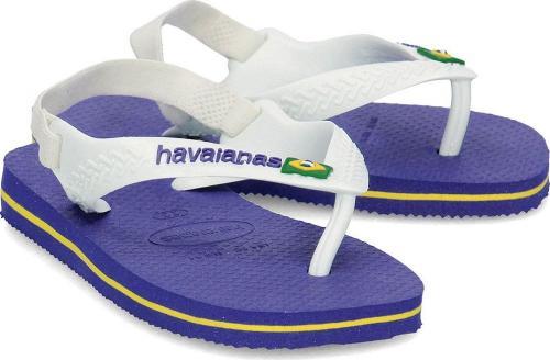 Havaianas Japonki dziecięce Brasil Logo granatowo-białe r. 21 (4140577 2711)