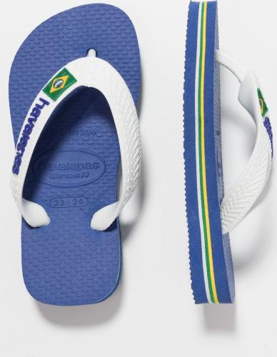 Havaianas Japonki dziecięce Brasil Logo niebiesko-białe r. 29/30 (4110850 2711)