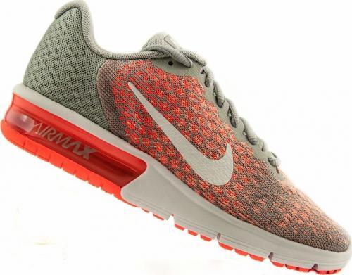 Nike Buty damskie Air Max Sequent szaro-pomarańczowe r. 37.5 (852465-005)