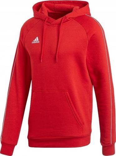 Adidas Bluza męska Core 18 Hoody czerwona r. M (CV3337)