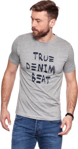 Mustang MUSTANG Denim Beat T-Shirt MID GREY MELANGE 1006414 4140 M