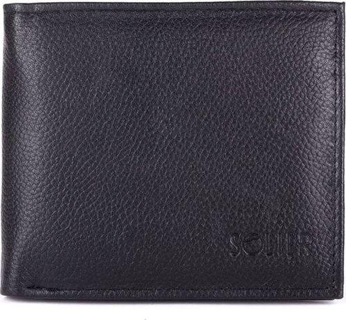 Solier Skórzany portfel męski SOLIER SW27 czarny