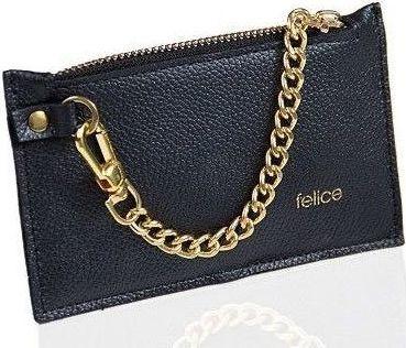 Felice Skórzany portfel damski Felice P07 czarny