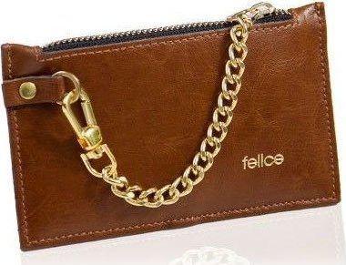 Felice Skórzany portfel damski Felice P07 brązowy vintage