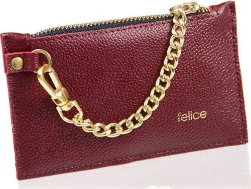 Felice Skórzany portfel damski Felice P07 burgundowy