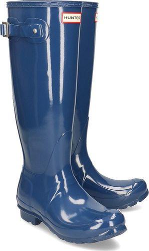 Hunter Hunter Original Tall Gloss - Kalosze Damskie - WFT1000RGL PEAK BLUE 36